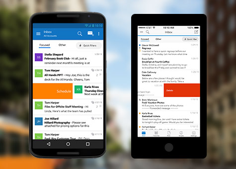 Microsoft's Launches Outlook App for IPhone and Android | garbimba