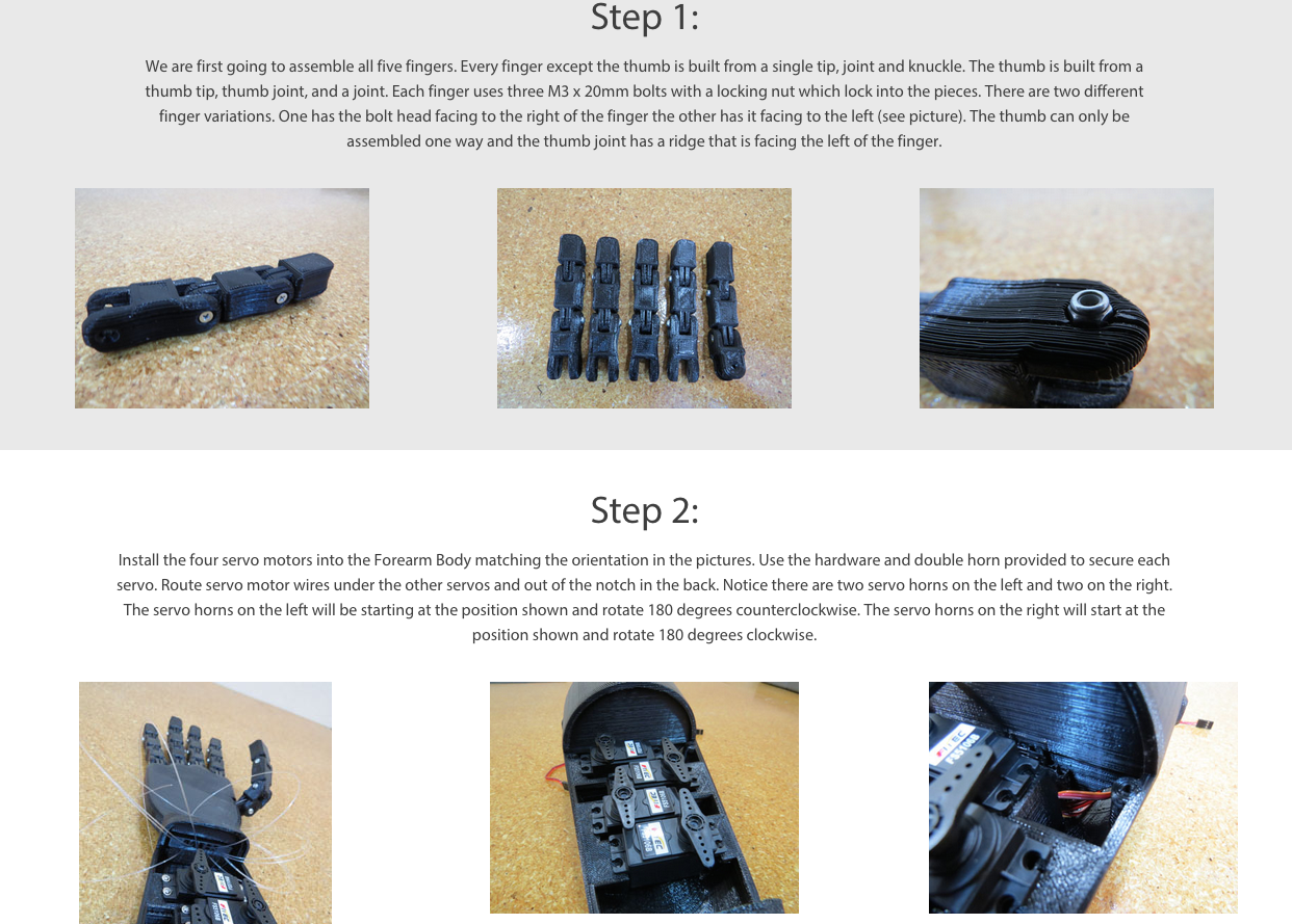 Robotic Hand Guide First Steps
